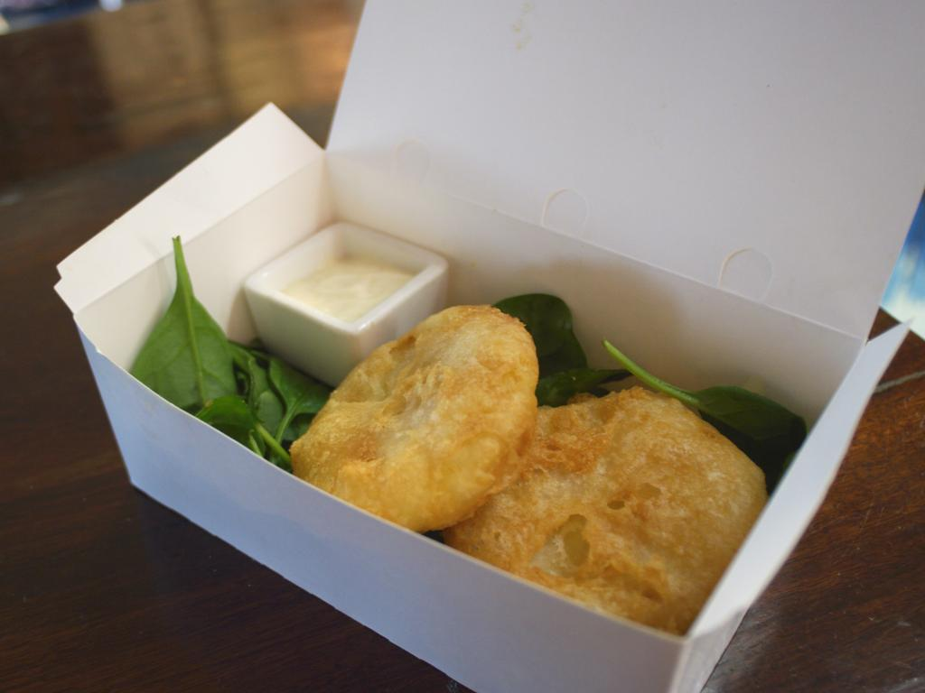 Blue Lips Fish & Chips in Exmouth makes the country's best potato scallop.