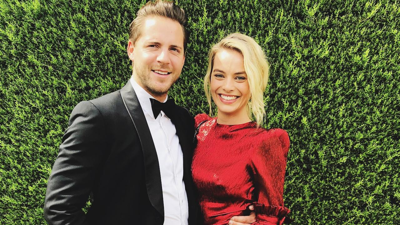 Margot Robbie and husband Tom Ackerley. Picture: Instagram