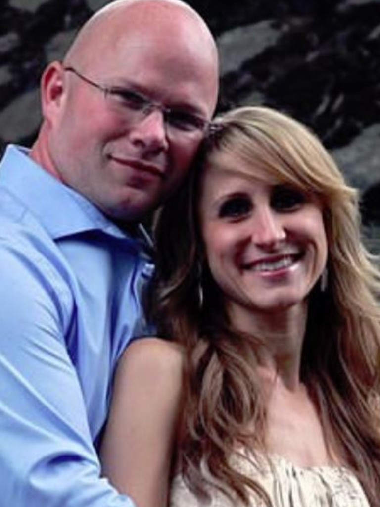 The toddler's parents Kimberly and Alan Wiegand. Picture: Facebook