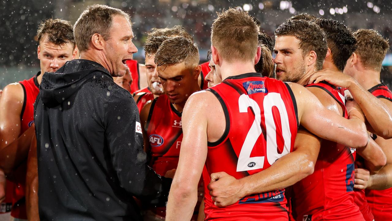 New Essendon coach Ben Rutten has outlined the style of footy he wants his side to play in 2021. (Photo by Matt Turner/AFL Photos via Getty Images)