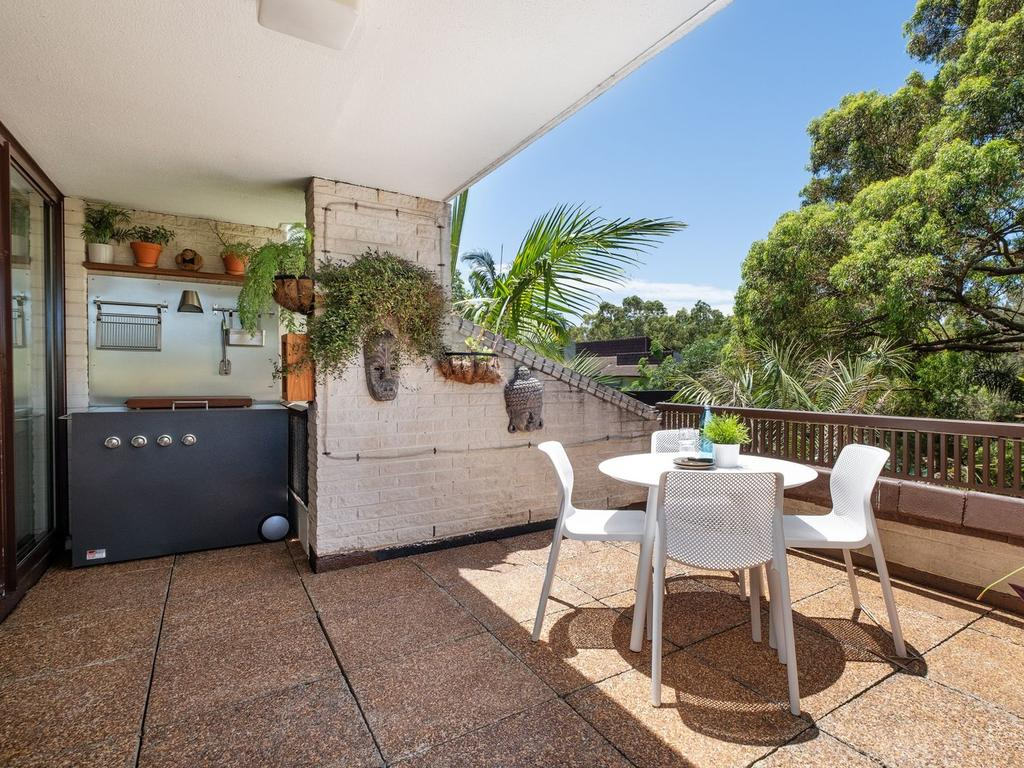 The property has a large outdoor terrace.