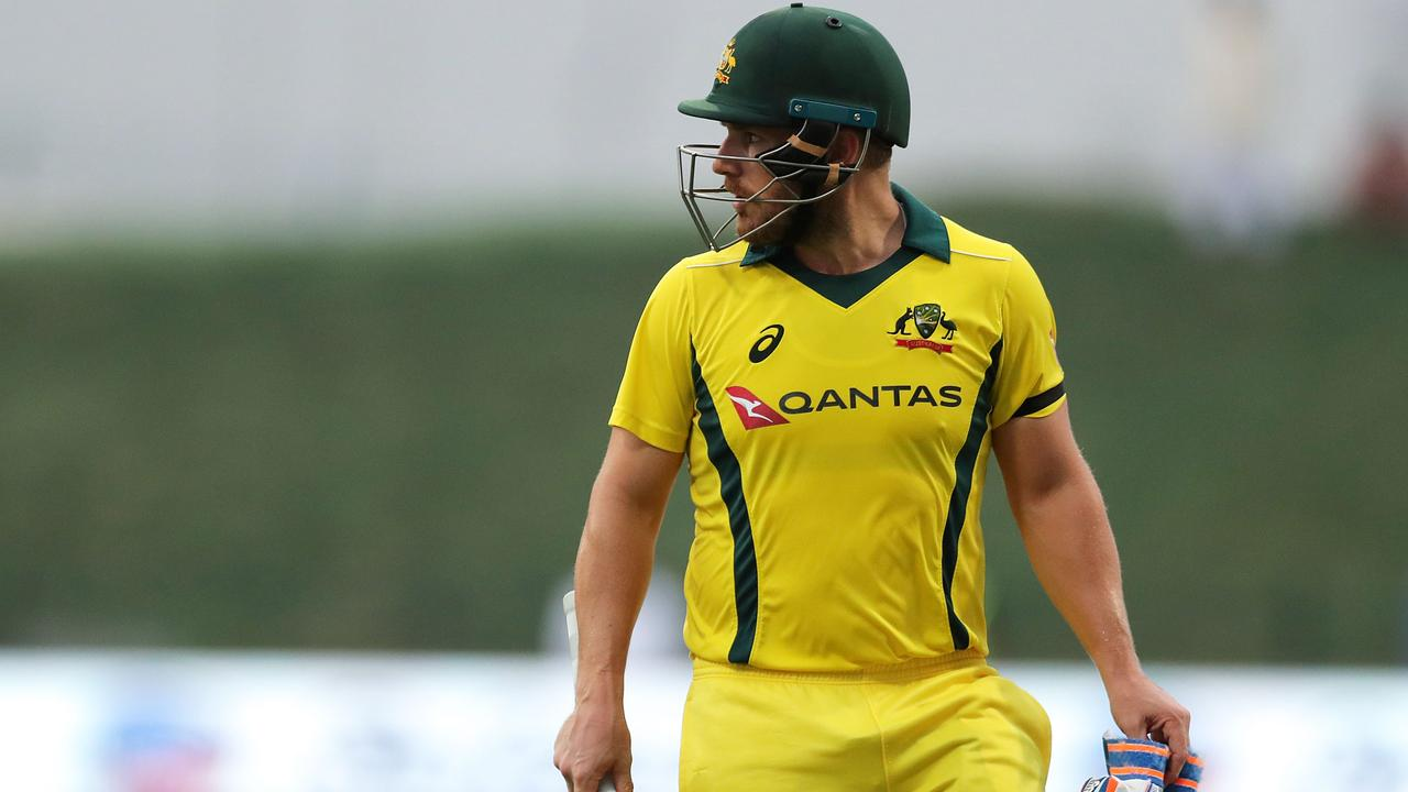 Aaron Finch fell for 90 in the third ODI.