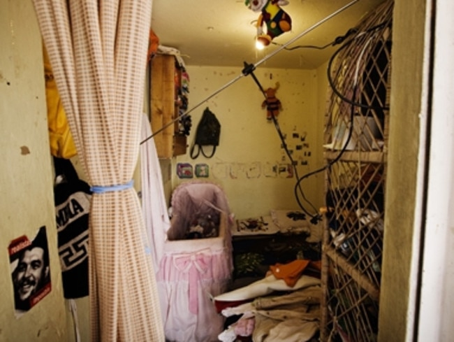A typical cell inside Colombia's El Buen Pastor prison for women where Aussie Cassandra Sainsbury is being held on drug trafficking charges. Picture: Supplied