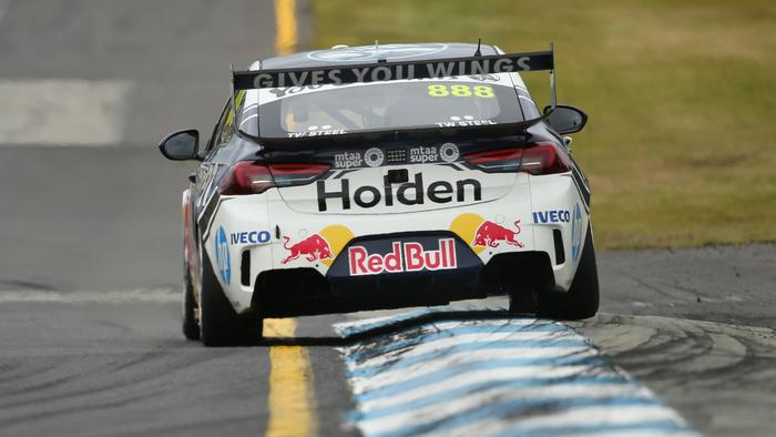 SANDOWN, AUSTRALIA - NOVEMBER 10: Craig Lowndes drives the #888 Red Bull Holden Racing Team Holden Commodore ZB during race 30 for the Sandown 500 part of the 2019 Supercars Championship  on November 10, 2019 in Sandown, Australia. (Photo by Mike Owen/Getty Images)