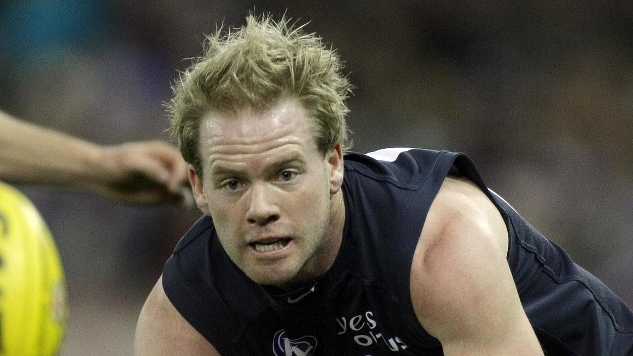 Nick Stevens in his playing days for Carlton.