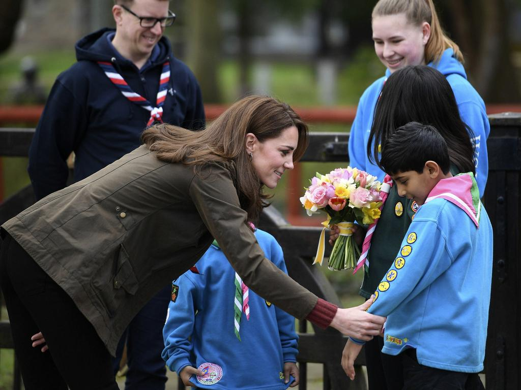 Kate was a Brownie herself when she was a youngster. Picture: AP