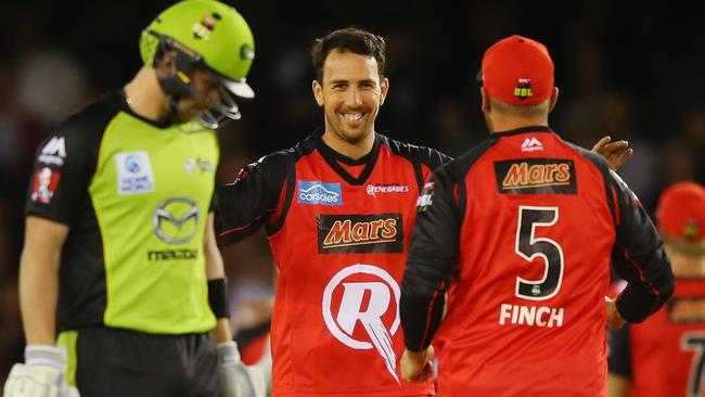 Tom Cooper removed Sydney Thunder opener with the first ball of the innings.