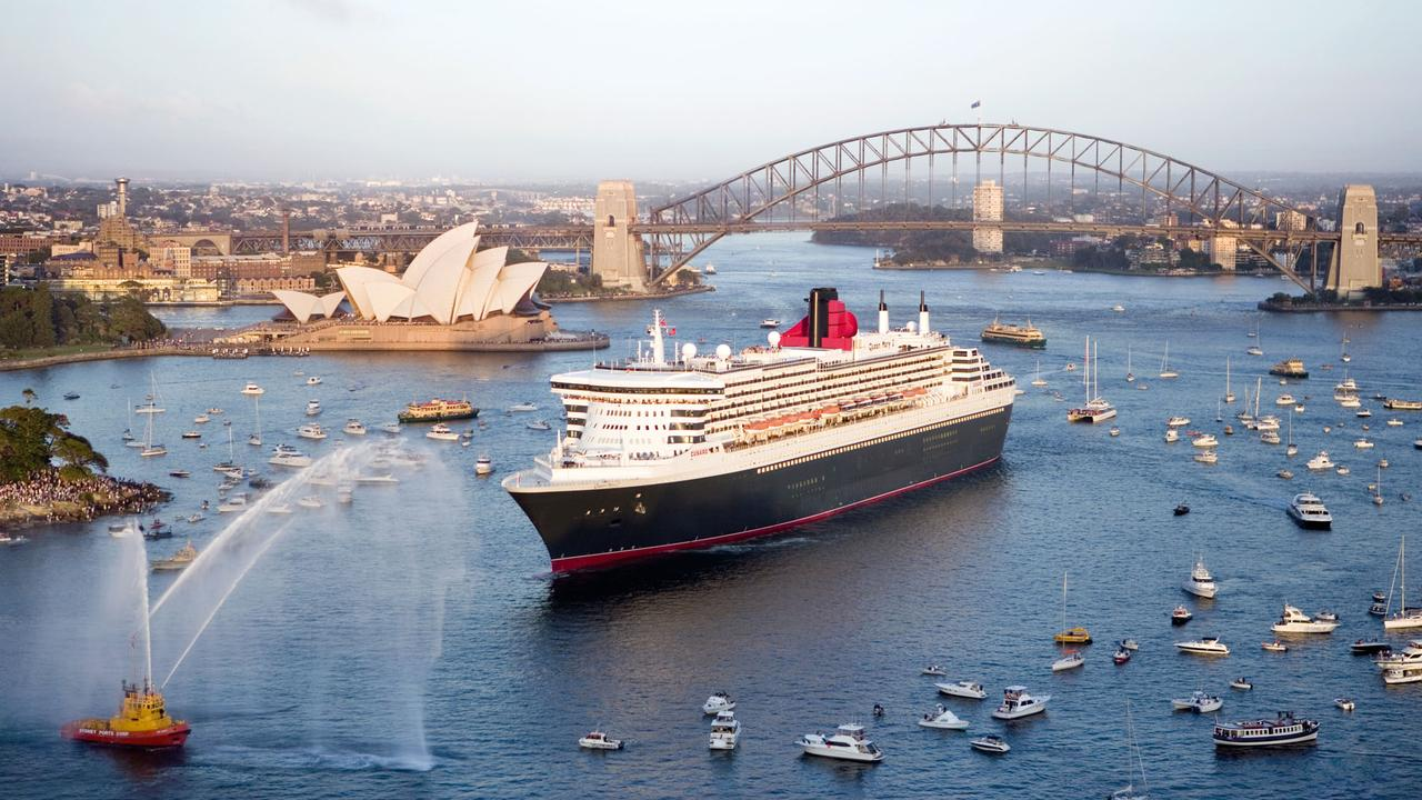 The Queen Mary II arrives in Sydney Supplied not for sale