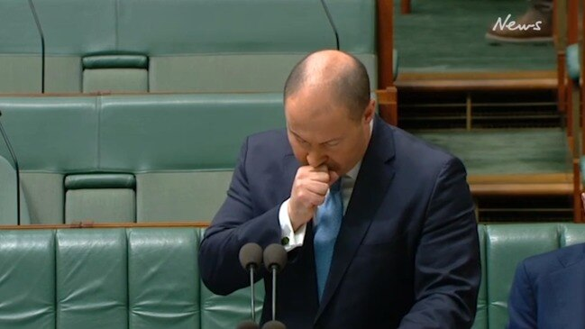 Treasurer hit by coughing fit during budget speech