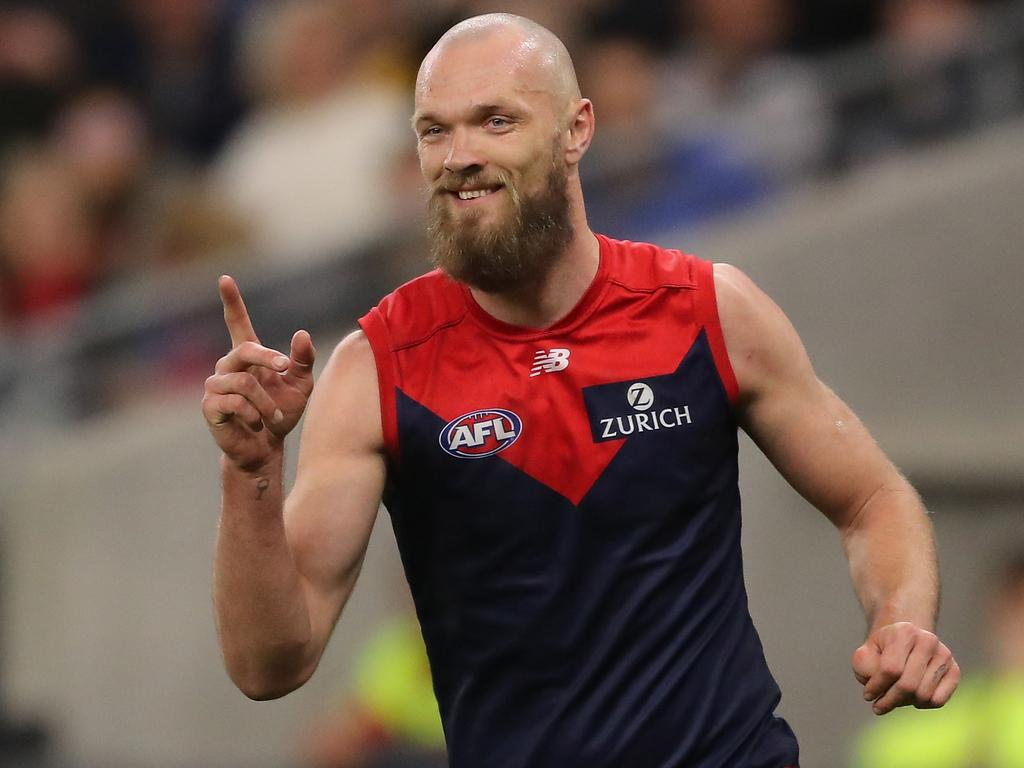 Can Max Gawn and the Dees break the longest premiership drought in AFL history? (Photo by Will Russell/AFL Photos via Getty Images)