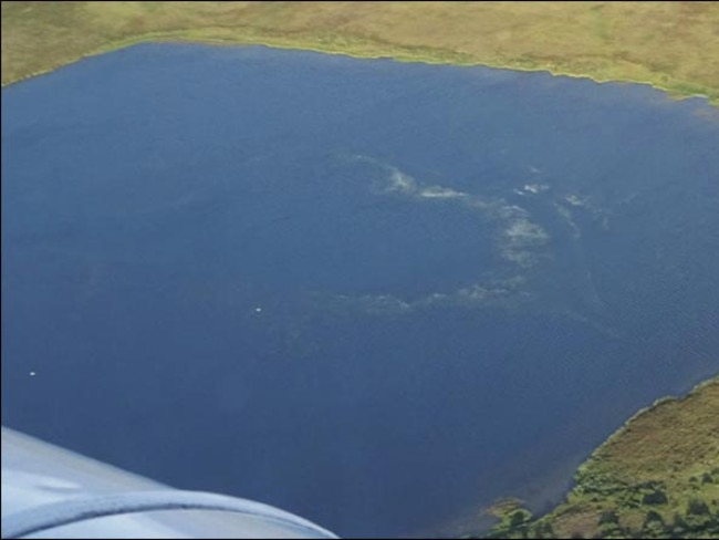 Methane spa ... The ripples caused by bubbling methane shows in this picture of a lake in Siberia. Source: Siberian Times