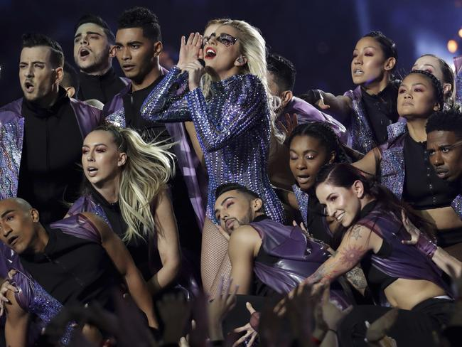 Lady Gaga and co. Picture: AP Photo/Patrick Semansky