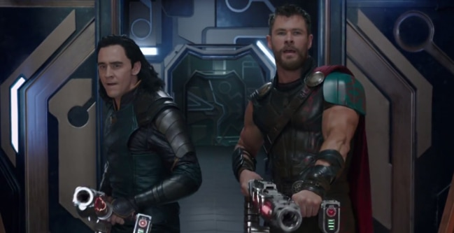 Thor and his brother Loki seem to be on the same side.