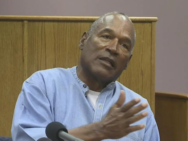 OJ raised his voice at one point during the hearing. Picture: Lovelock Correctional Center via AP