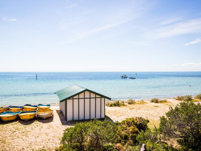 INDENTED HEAD This seaside spot, nestled between Portarlington and St Leonards, is a family holiday haven. With three seasonal foreshore camping areas to choose from, picnic areas, and gentle lapping water, this is the destination for lazy communal days by the water. Look out for the Ozone paddle steamer's hull, sunk in 1925, that protrudes out of the blue sea. Picture: Visit Victoria