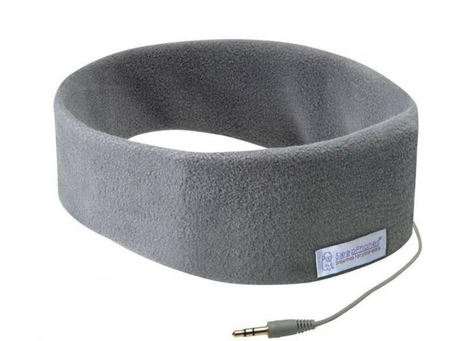 CLASSIC HEADBAND SLEEP HEADPHONES, $69.95 FROM SLEEPPHONES With a set of speakers inside a pillowy soft headband, now you can easily fall asleep to your favourite relaxation music or meditation app. Best suited to those who don't like cumbersome over-ear headphones or earbuds. The fleece headband itself is made from recycled plastic, doubles as a sleep mask and can be thrown in the wash – just don't forget to remove the speakers first!