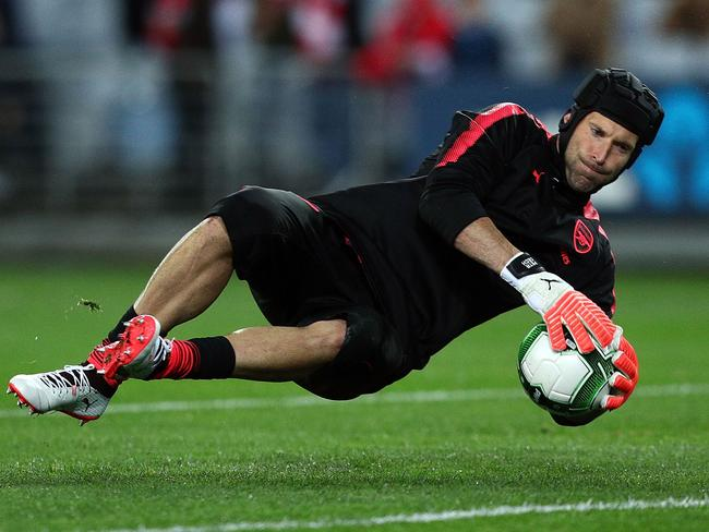 Cech had a relatively untroubled evening against A-League champions Sydney FC.