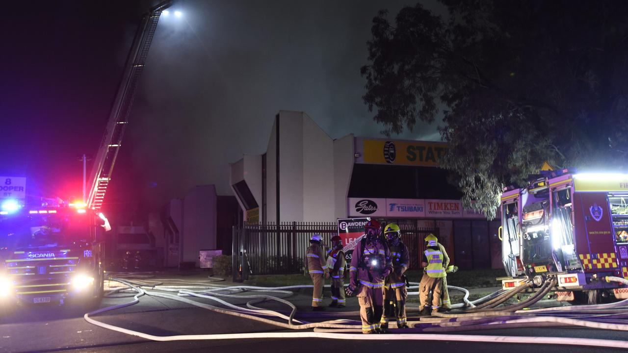 It took crews more than two hours to control the fire. Picture: Gordon McComiskie