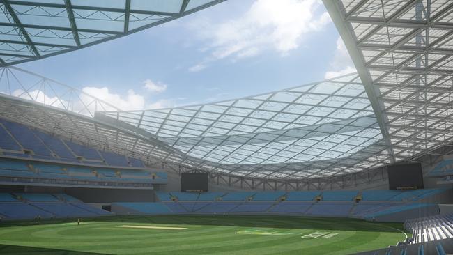 Artist's impression of ANZ Stadium masterplan.