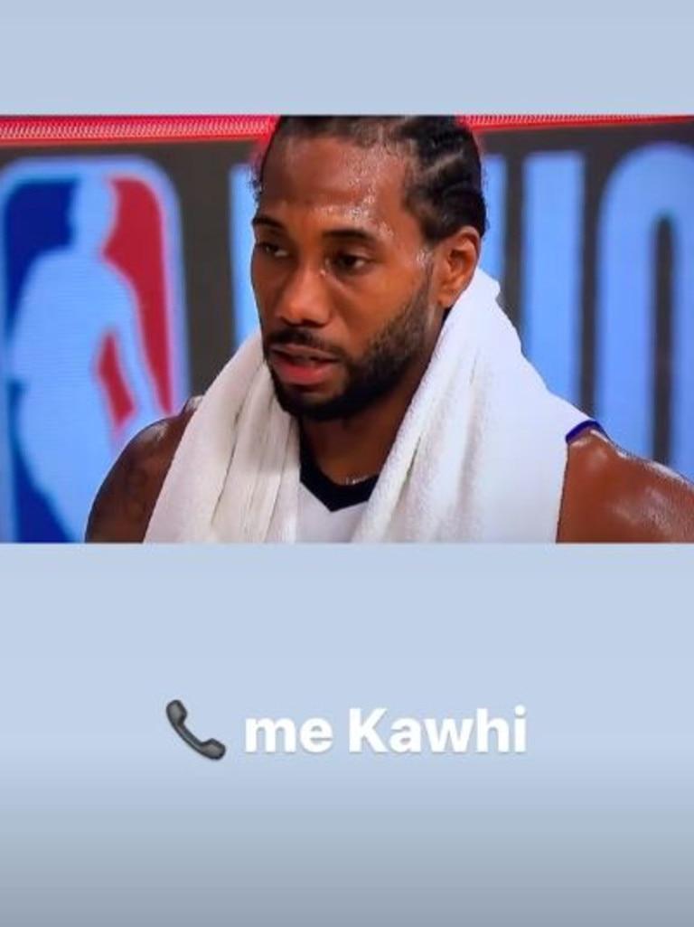 January Jones is a big Kawhi fan