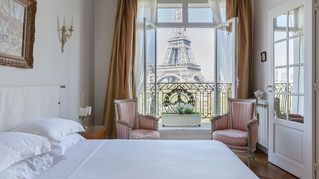 This view of the Eiffel Tower is probably better than your current Zoom backdrop.