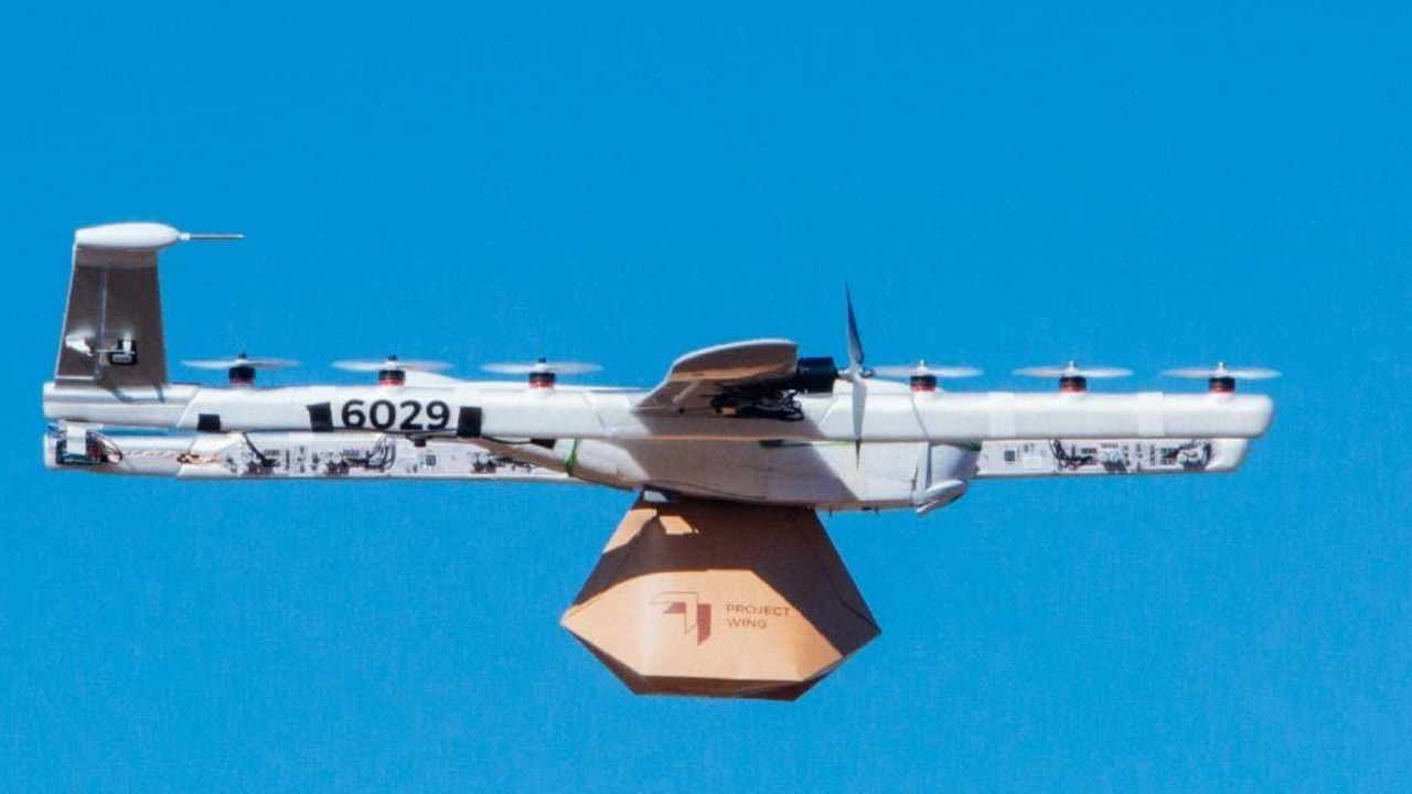 Alphabet has been testing its Project Wing drone deliveries in areas around Canberra, ACT. Picture: supplied