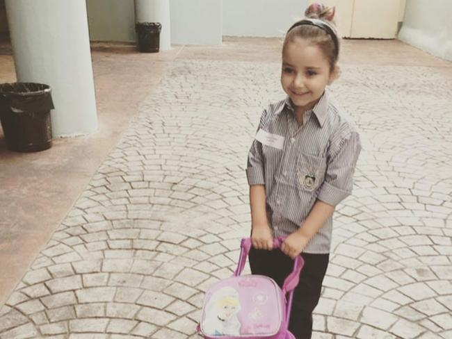 Sally Faulkner's daughter Lahela, pictured in Lebanon. Picture: Supplied