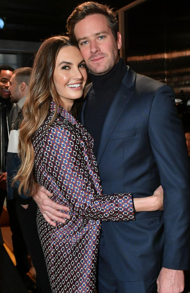 Armie and ex-wife Elizabeth Chambers announced they were getting a divorce after 10 years of marriage in June 2020. Picture: Getty Images.