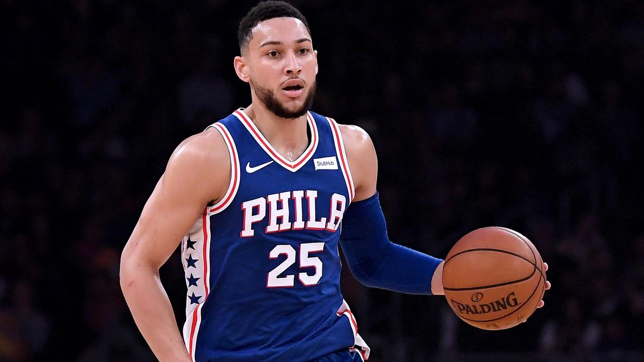 Ben Simmons playing for the Philadelphia 76ers in the NBA. Picture: Getty Images