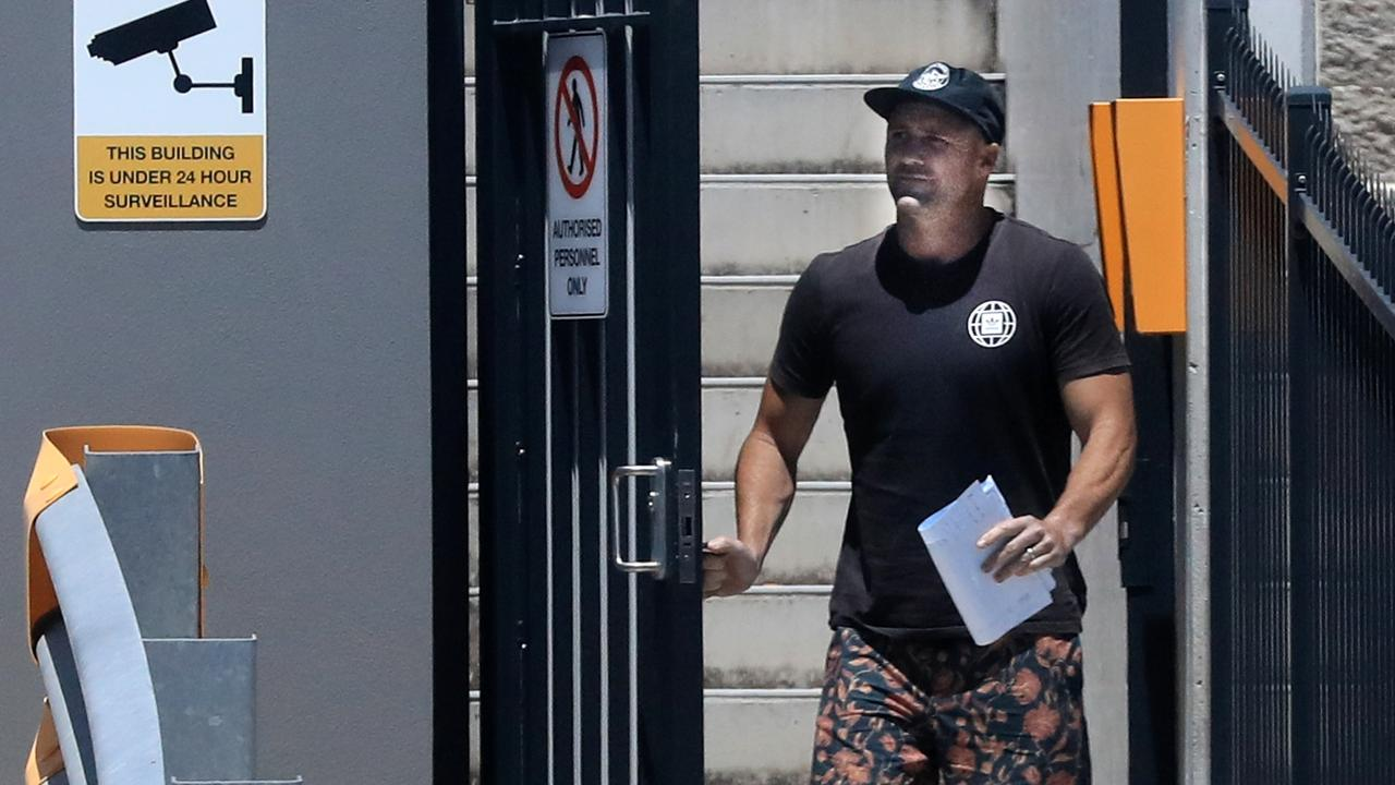 Michael Gordon is released from custody at Tweed Heads Police Station. Picture: Scott Powick