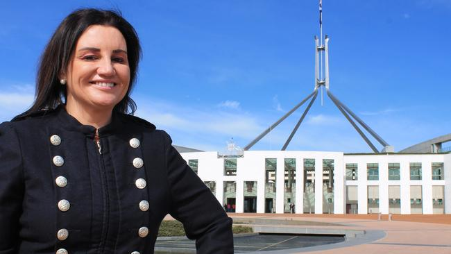 """Senator Jacqui Lambie let loose in Federal Parliament today, comparing Liberal Senator Cory Bernadi to """"an angry prostitute"""". Picture: SUPPLIED."""