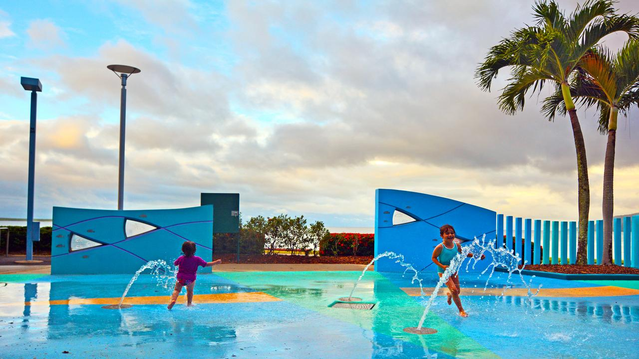 Fun 'n games at the Cairns Esplanade public water park. Picture: iStock