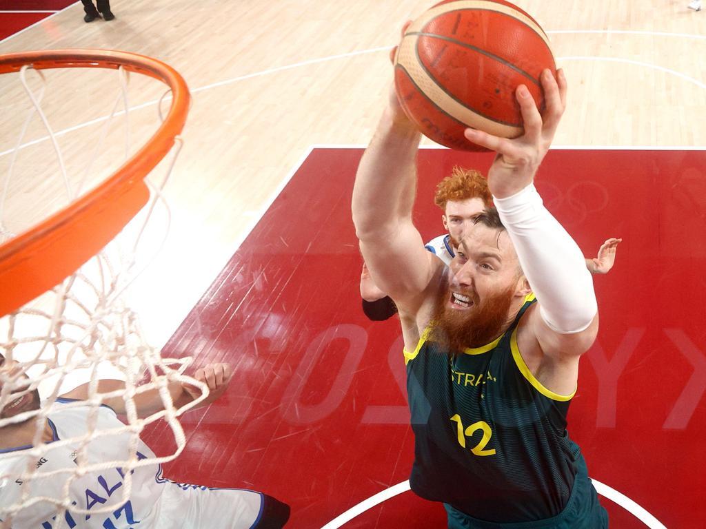 Aron Baynes of Team Australia.