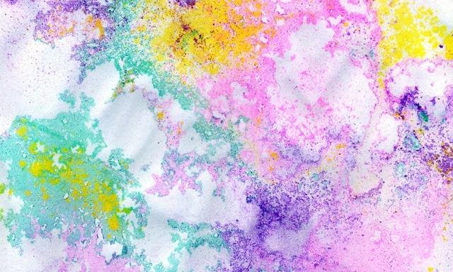 Powder water art: Craft activities for kids