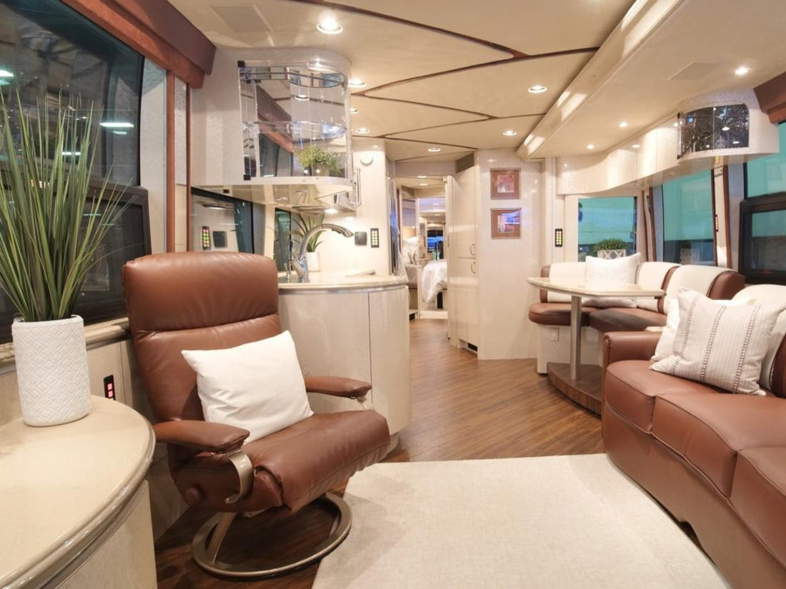 Luxury motorhomes have become the new must-have item.