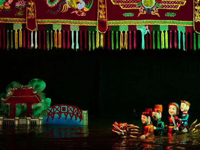 WATER PUPPETRY Water puppetry is a loved Vietnamese tradition that dates back centuries, starting in the waterside villages dotted around the nearby Red River Delta. Today's travellers can watch the ornate puppets dancing on the deep during shows at the famous Thang Long Theatre beside Hoan Kiem Lake.