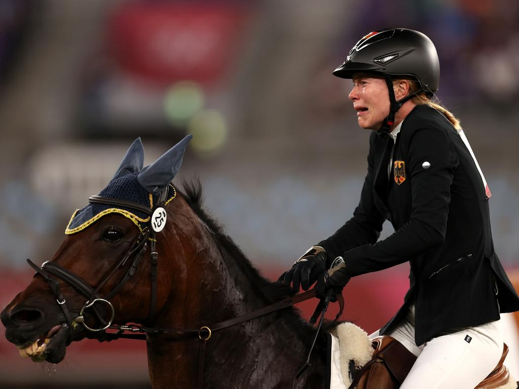 Schleu burst into tears as her Olympic dream slipped away. (Photo by Dan Mullan/Getty Images)