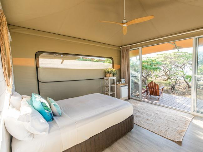 "Situated within a highly protected ""Green Zone"" of the Reef, there's sublime snorkelling and diving on both sides of the island with turtle and manta ray encounters almost guaranteed. The carbon-neutral resort is rolling out a refurbishment with eco cabins being subbed out for glass-front glamping tents and Reef Unit updates."