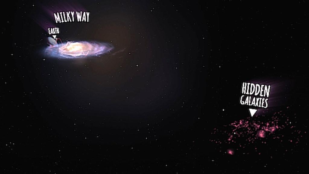 Hidden cluster of galaxies beyond the Milky Way