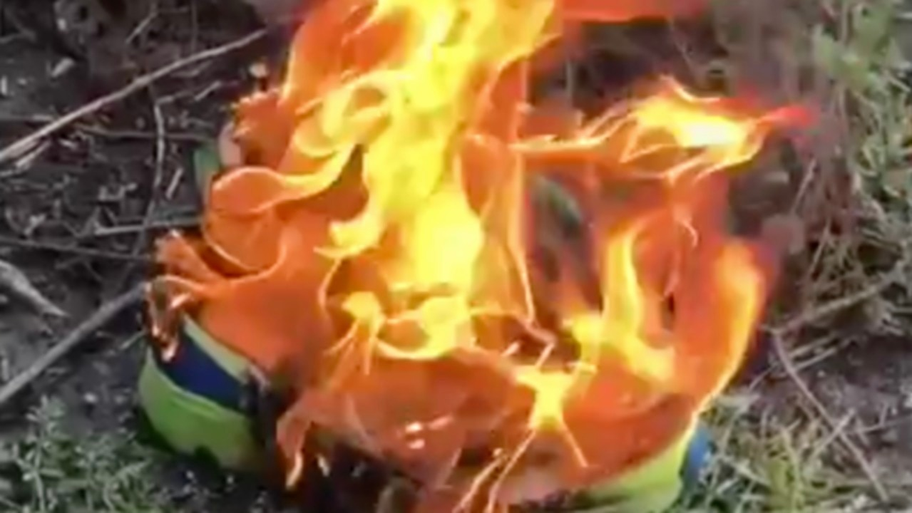 Man Burns Nikes in Protest of Kaepernick Ad Campaign