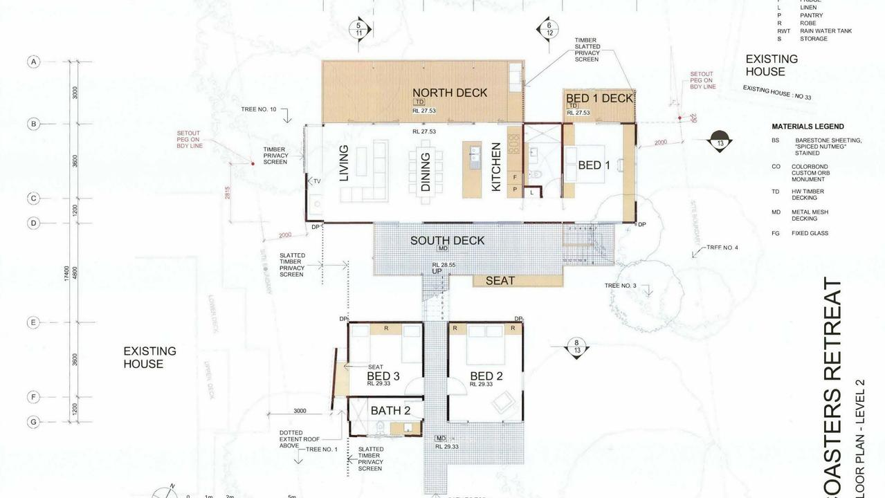 DA plans for a three-bedroom house.