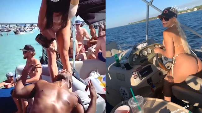 Chicago Bears NFL star Roquan Smith rides boat with pornstar Abella Danger,  coronavirus, social distancing