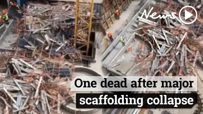 Scaffolding collapse: A man has died at a Macquarie Park construction site