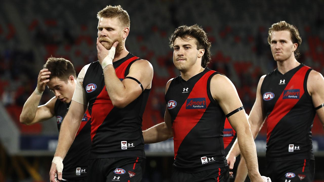 Michael Hurley has been managed for Essendon's crunch clash with Gold Coast. (Photo by Ryan Pierse/Getty Images)