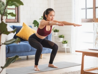 A 10-minute full-body standing Pilates workout you can do anywhere
