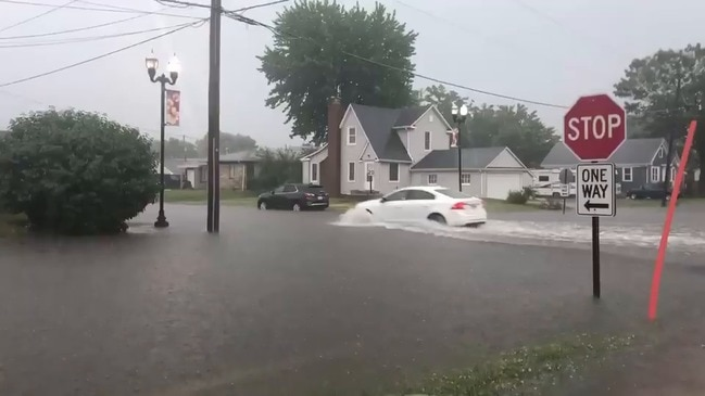 Roadways Flood as Severe Storms Sweep Through Central Illinois