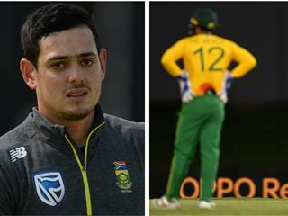 Quinton de Kock withdrew from selection over his refusal to take the knee.