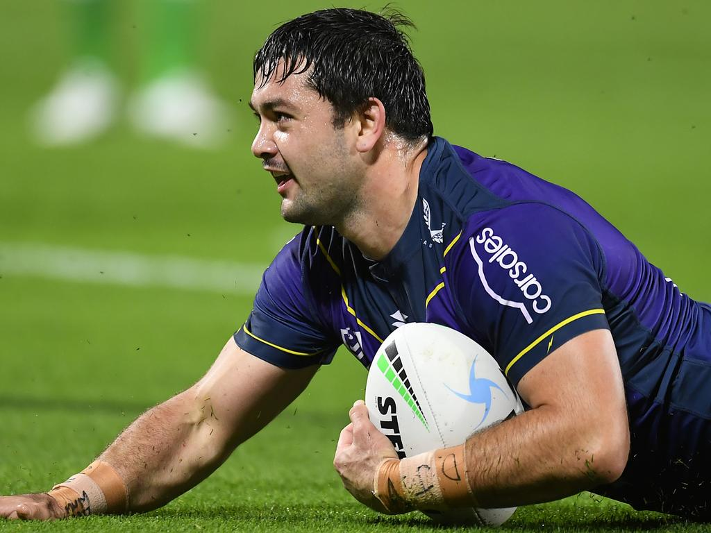 Smith has scored more tries this season than any other Storm forward. (Photo by Albert Perez/Getty Images)