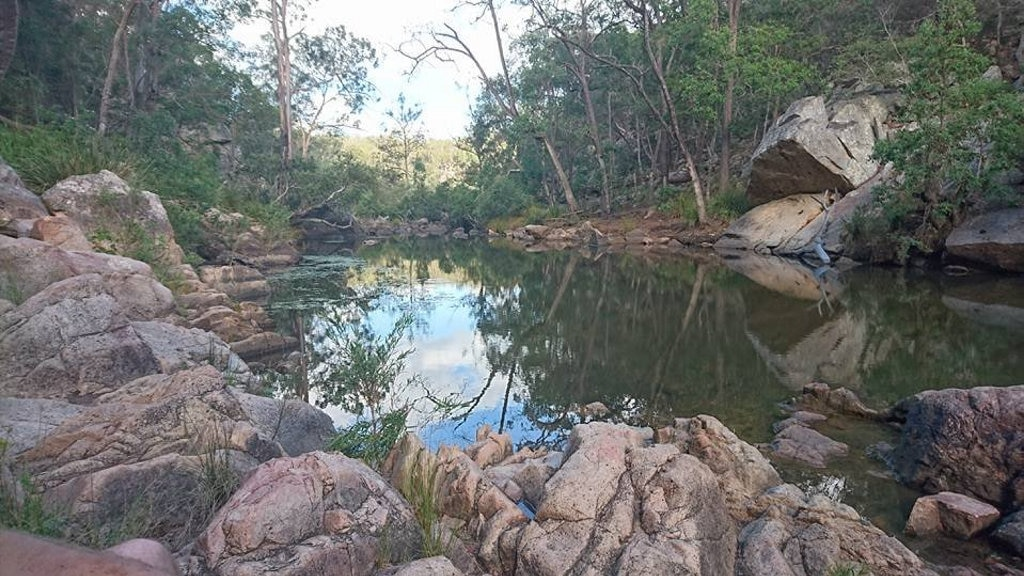 Bottlebrush pool at Crows Nest National Park, just enough water for kids to have great fun. Picture: Cassy Noonan