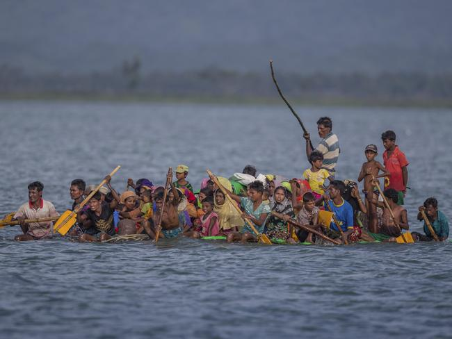 About 700,000 minority Rohingya Muslims have fled Myanmar to Bangladesh. Picture: AP